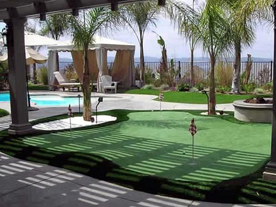Artificial Grass Photos: How To Install Artificial Grass Bourneville, Ohio Office Putting Green, Small Backyard Ideas